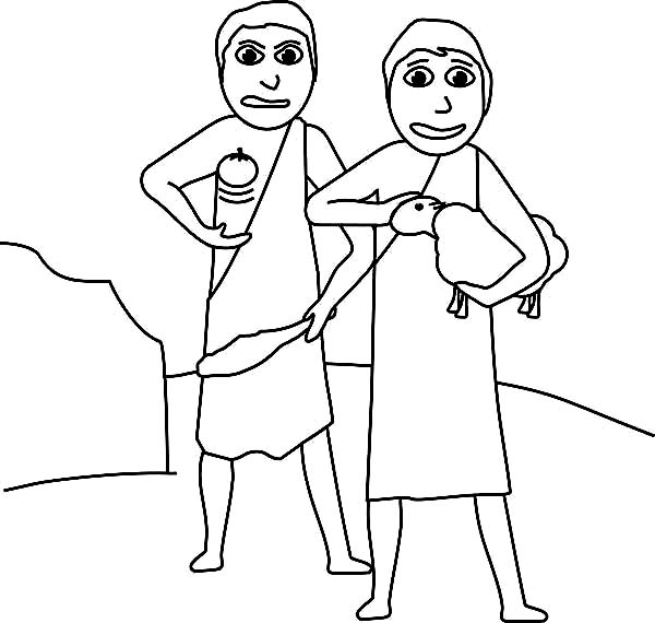 Kids Drawing Abel And Cain Coloring Page : Coloring Sky