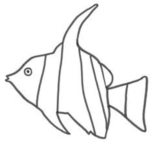 Kids Drawing Of Angel Fish Coloring Page : Coloring Sky