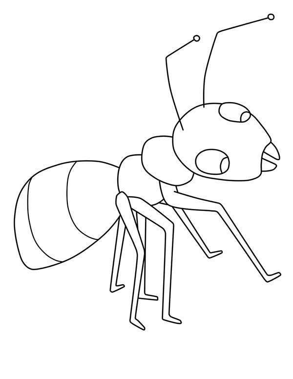 Kids Drawing Of Ant Coloring Page : Coloring Sky