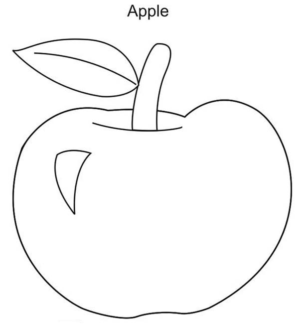 Kids Drawing Of Apple Coloring Page : Coloring Sky