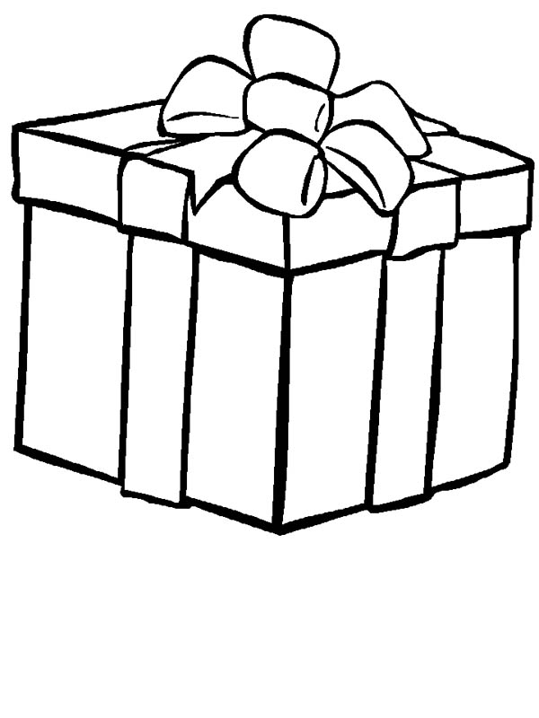 Kids Love Big Box Of Gifts Coloring Page : Coloring Sky