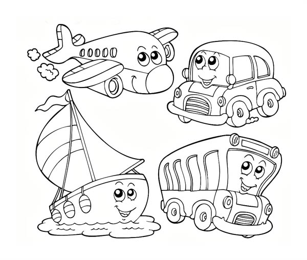 Air Transportation Worksheet For Kindergarten