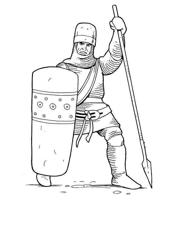 Kingdom Knight Coloring Page : Coloring Sky