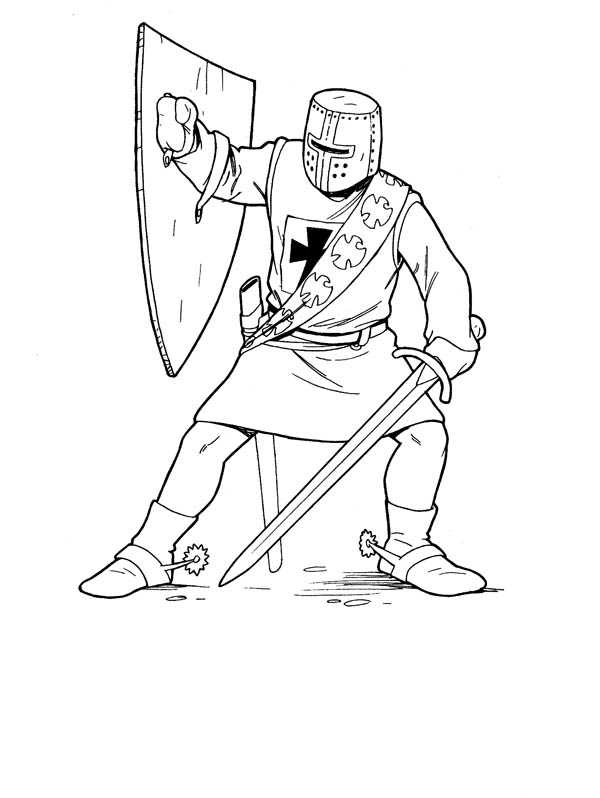 Knight Counter Attack Coloring Page : Coloring Sky