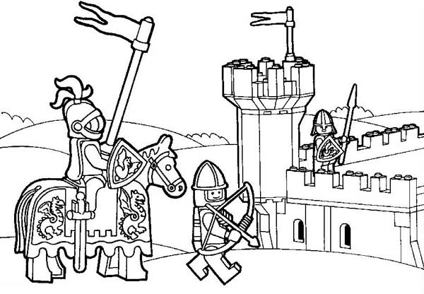 lego knights coloring pages Gallery