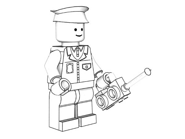 Lego Policeman Models Coloring Page : Coloring Sky