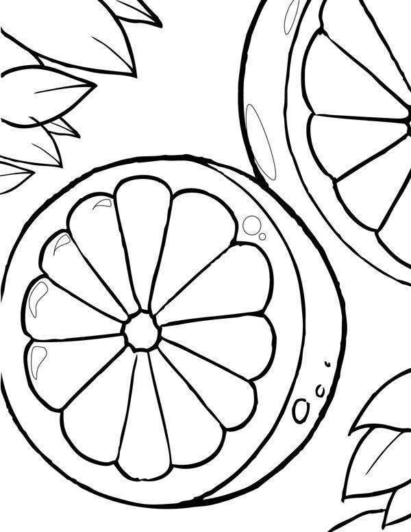Lemon Picture Coloring Page: Lemon Picture Coloring Page