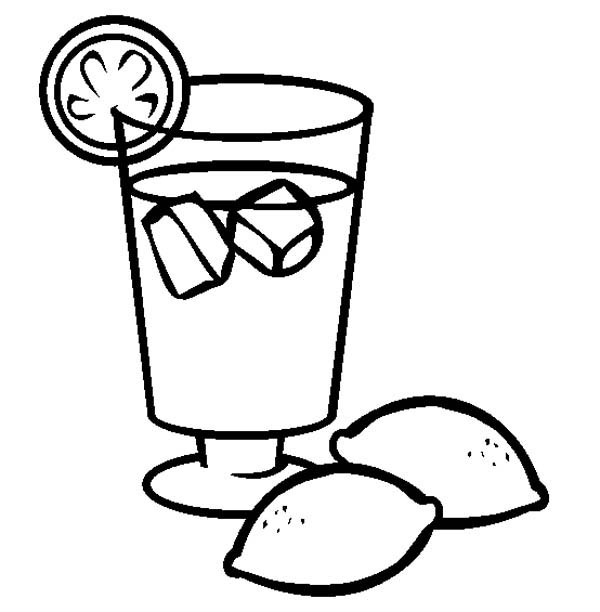 Lemonade Colouring Pages