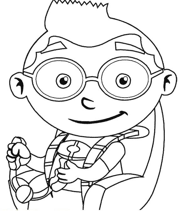 Leo From Little Einstein Coloring Page : Coloring Sky