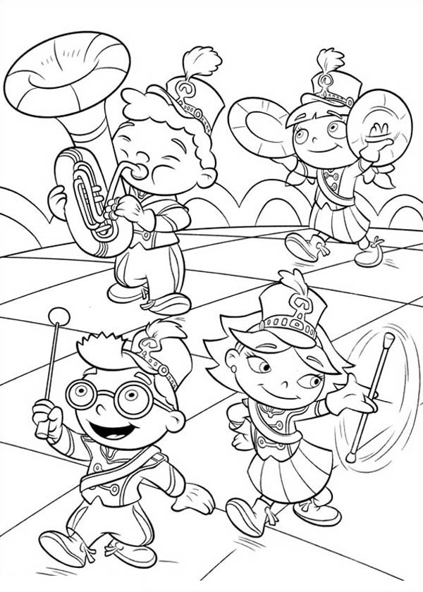 Little Einstein Marching Band Coloring Page : Coloring Sky