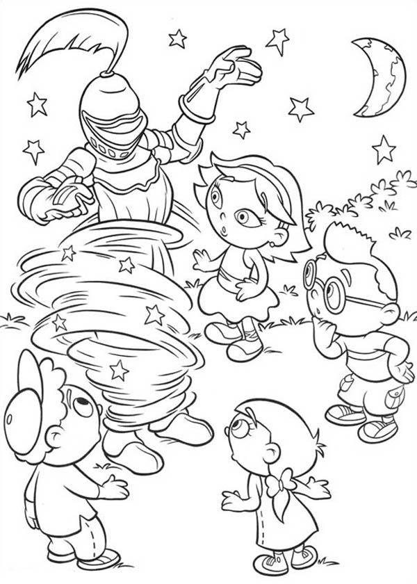 Little Einstein Travel Back in Time Coloring Page