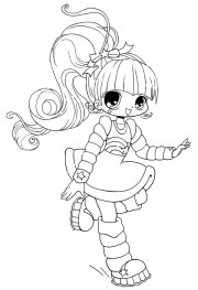 chibi charaters colouring pages