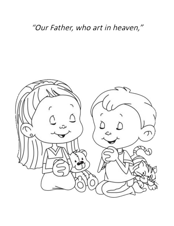 Lords Prayer Our Fathe RWho Art In Heaven Coloring Page