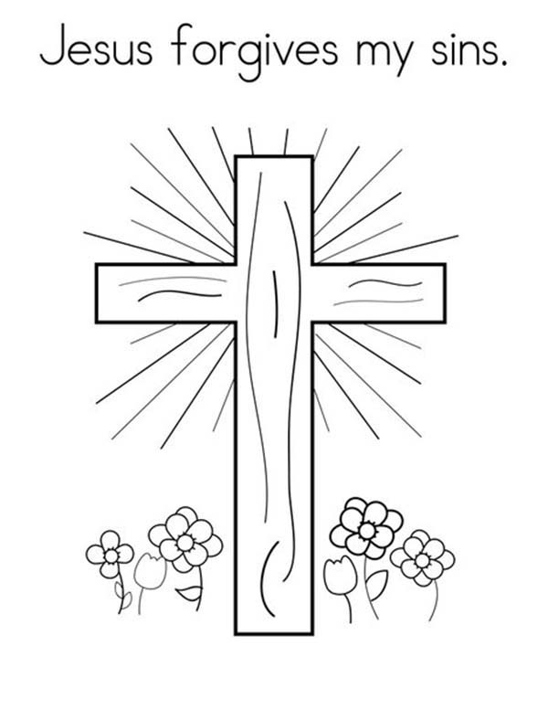 Lords Prayer For Forgiveness Coloring Page : Coloring Sky