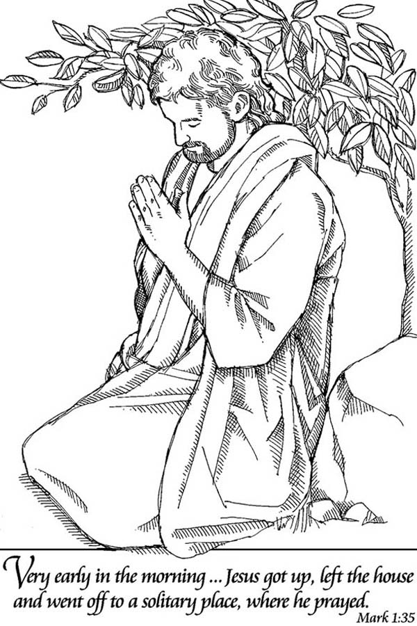 Lords Prayer To Solitary Place Coloring Page : Coloring Sky