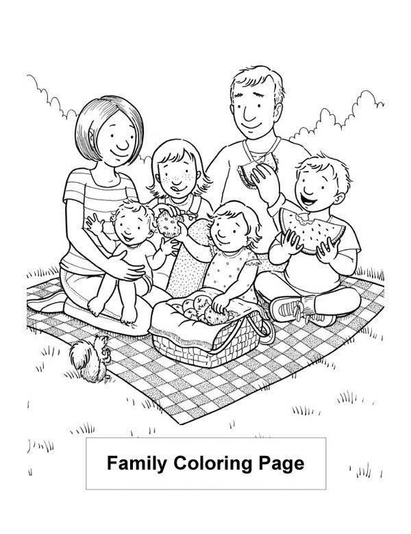 Nuclear Family Coloring Page Coloring Coloring Pages