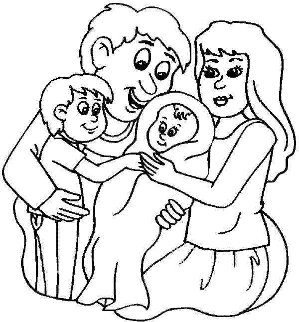 New Family Member Coloring Page: New Family Member