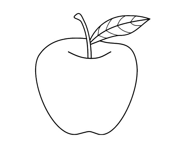 Nice Apple For Apple Pie Coloring Page : Coloring Sky