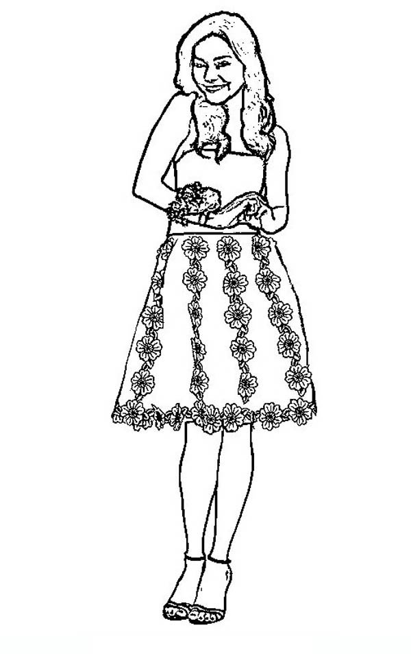 Night Perform In High School Musical Coloring Page