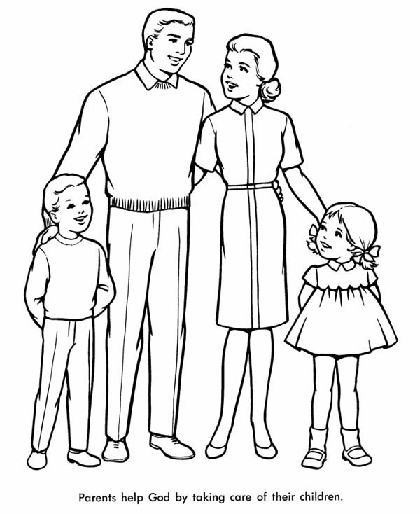 Families Having Fun Coloring Pages Coloring Pages
