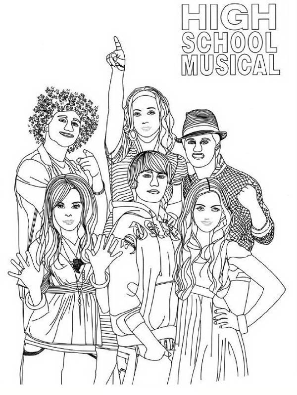 Picture Of High School Musical Coloring Page : Coloring Sky