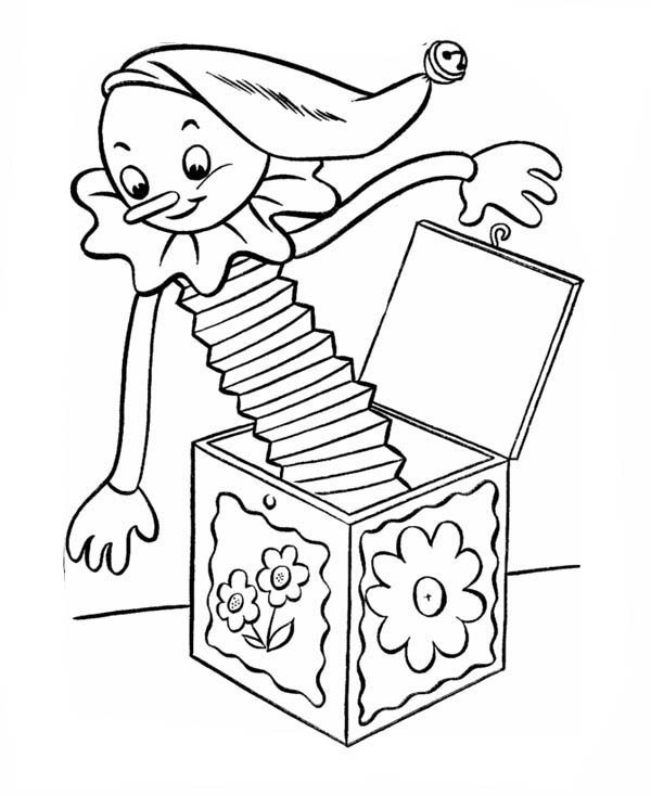 Picture Of Jack In The Box Coloring Page : Coloring Sky
