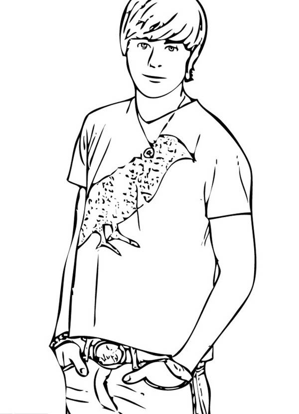 Popular Male Student In High School Musical Coloring Page