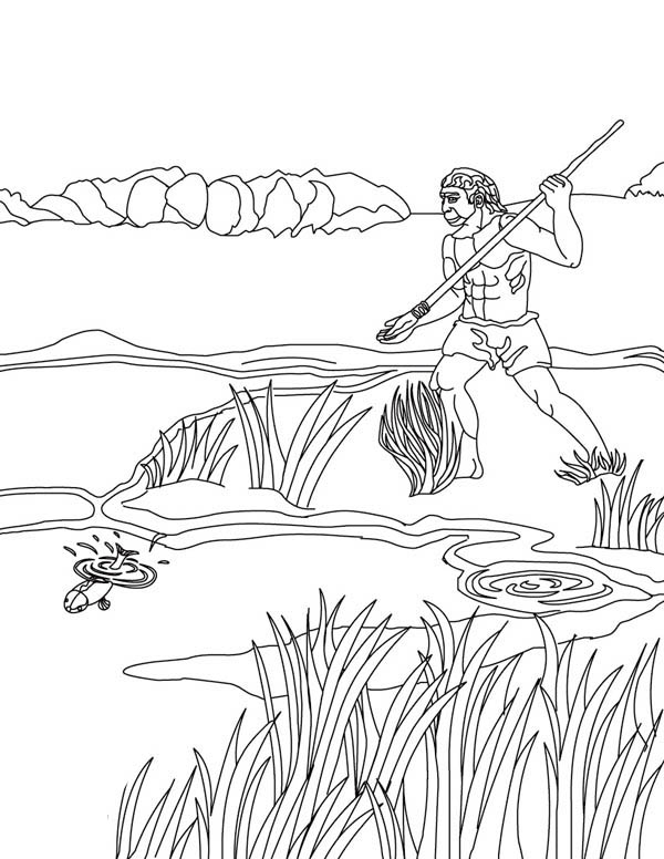 Best Dad Going Fishing Coloring Pages
