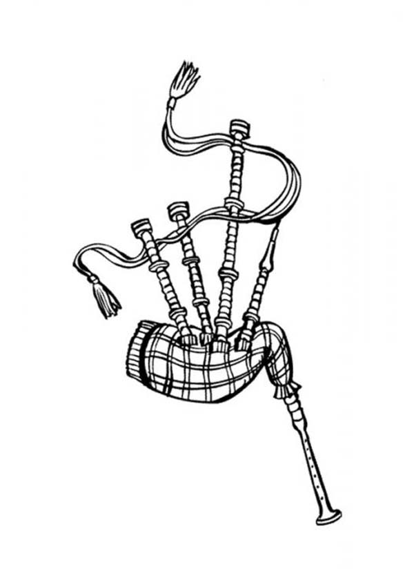 Scottish Bagpipes Coloring Page : Coloring Sky