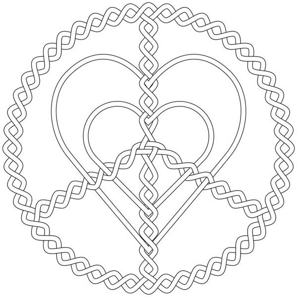 Silver Love And Peace Jewelry Coloring Page : Coloring Sky