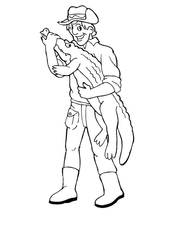 Steve The Crocodile Hunter Coloring Page : Coloring Sky