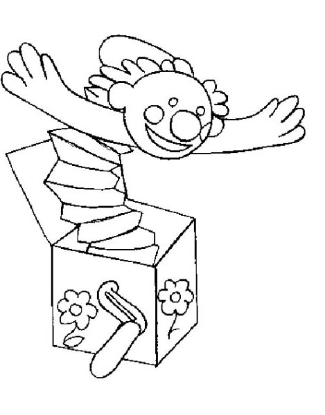 Surprising People With Jack In The Box Coloring Page