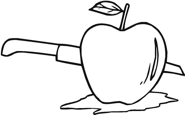 The Best Way To Cut An Apple Coloring Page : Coloring Sky