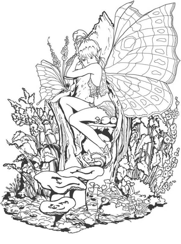 The Forbidden Fantasy Fairy World Coloring Page Coloring Sky