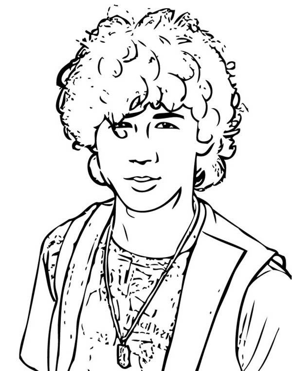 Troys Best Friend In High School Musical Coloring Page