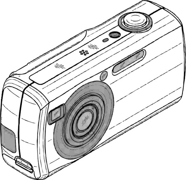 An Old Digital Camera in Photography Coloring Page