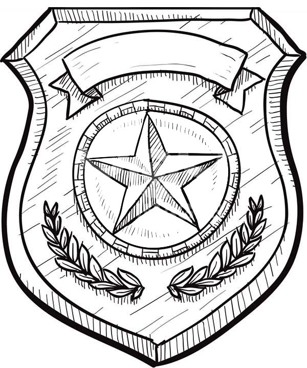 Badge Without Eagles Coloring Page : Coloring Sky