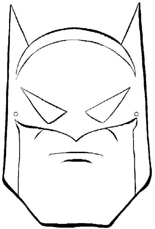 Batman Mask Coloring Page : Coloring Sky