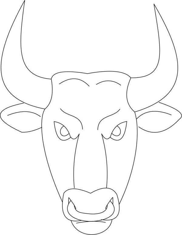 Bull Mask Coloring Page : Coloring Sky