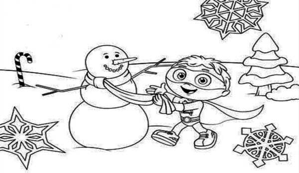Christmas Superwhy Coloring Page : Coloring Sky