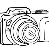 Photography With DSLR Camera Coloring Page : Coloring Sky