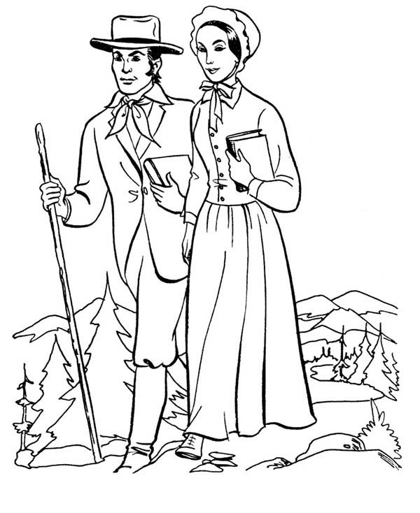 Country People Coloring Page : Coloring Sky