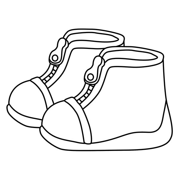 Cute Shoes For Kids Coloring Page : Coloring Sky