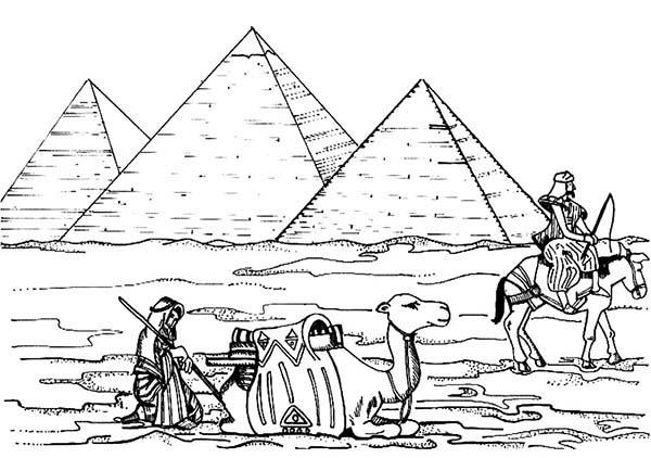 Malvorlage Pyramide
