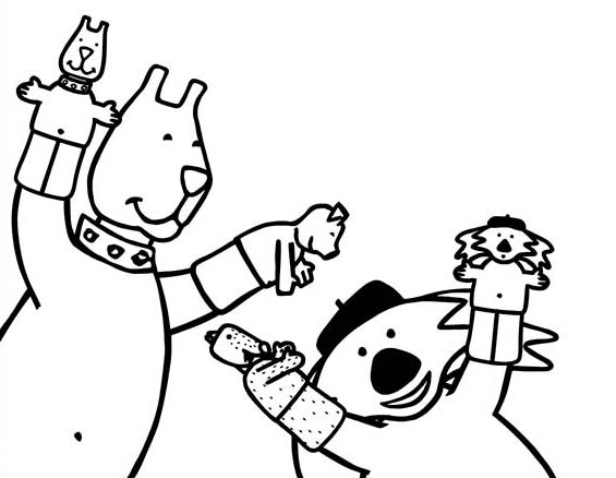 Puppet Coloring Pages Home Sketch Coloring Page