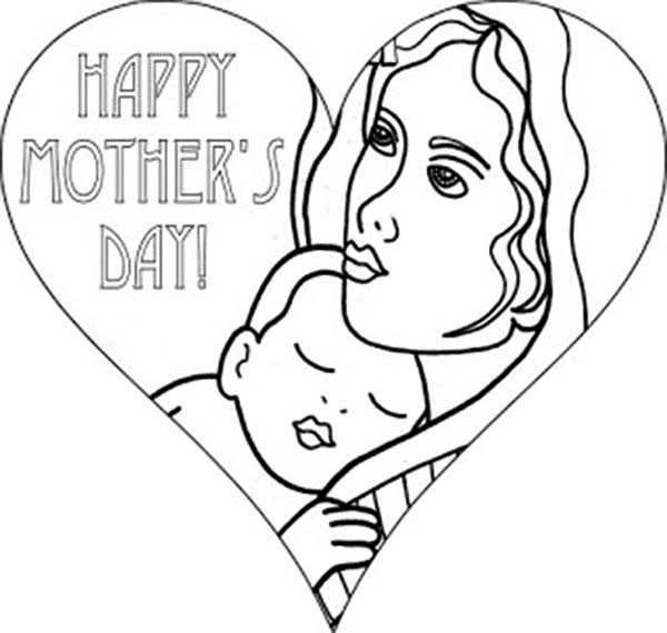 Mom Hearts Coloring Pages 8530