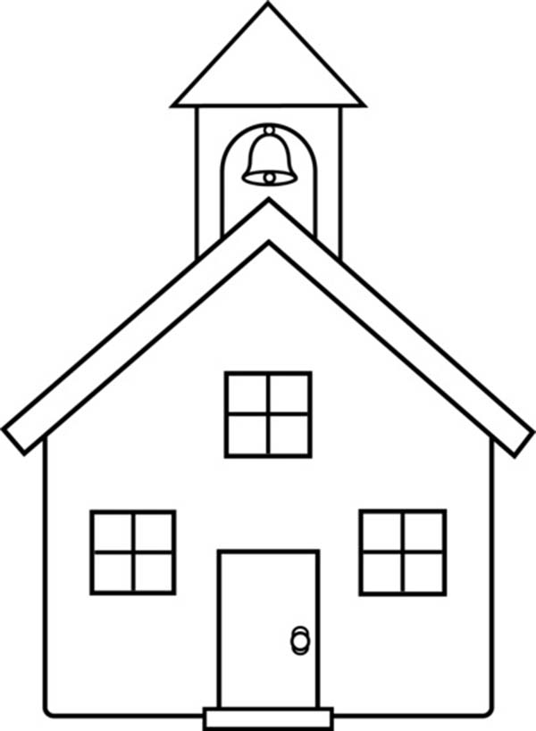 How To Draw A School House Coloring Page : Coloring Sky