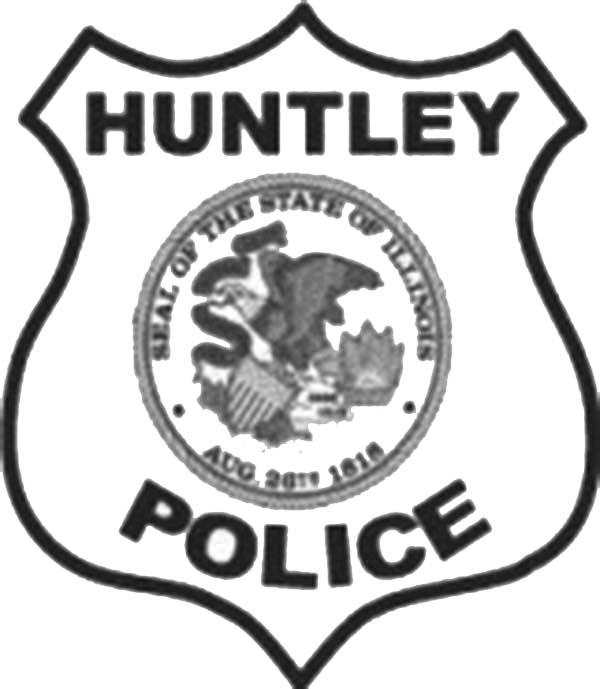 Huntley Police Badge Coloring Page: Huntley Police Badge
