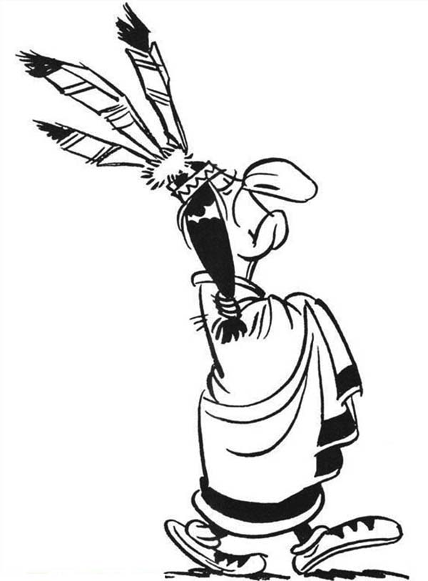 Indian Chief In Lucky Luke Coloring Page Coloring Sky