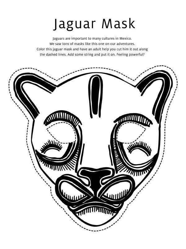 Jaguar Face Coloring Coloring Pages